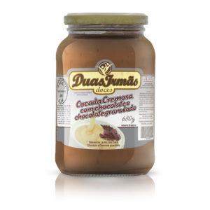 COCADA COM CHOCOLATE E CHOCOLATE GRANULADO