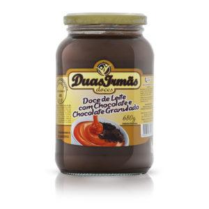 DOCE DE LEITE COM CHOCOLATE E CHOCOLATE GRANULADO